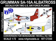 RVHP Models 1/72 Grumman SA-16A Albatross in USAF Conversions Set