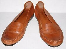 Mario De Gerard all leather shoes loafers men's sz. 9 9.5 US stitched through