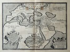 ANCIENT WORLD A. ORTELIUS - HOLY LAND - EUROPE - 1595 - Original Antique Map
