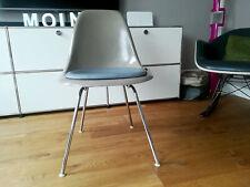 ORIGINAL 1960s EAMES Side Chair DSX Fiberglas greige H-Base HERMAN MILLER Vitra