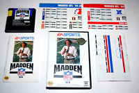 Madden NFL '94 Sega Genesis Video Game Complete in Case