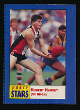 1991 Footy Stars Robert Harvey St Kilda Sticker Saints