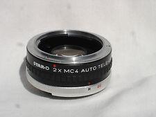 STAR D 2X MC4 Auto Tele Converter  lens for KONICA AR mount cameras