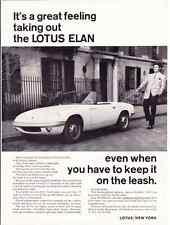 1964 LOTUS ELAN  ~  CLASSIC ORIGINAL PRINT AD
