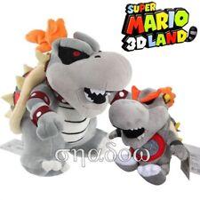 Super Mario Bros. Dry Bowser Bones Koopa & Baby Dry Bowser Koopa plush doll 2pcs