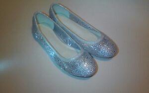 "~ David's Bridal ~ Sparkling ""See-Thru"" Dress Pumps [Sz.7] White Wedding shoes"