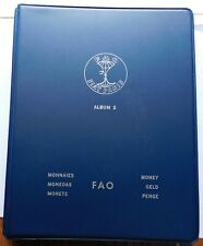 1971-73 FAO Food For All Coin Money Album #2 Set UN, 20 Countries Silver +, Rare