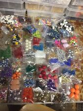 Lot of 65 Glass Crystal Acrylic Crystal Seed Beads