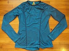LOLE ATHLETIC TOP WORK OUT GYM FINE QUALITY M BLUE PRINT DESIGN 4 WAY STRECH