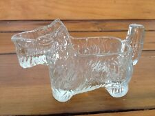 Vtg Art Deco 1930s Glass Scottish Terrier Scotty Dog Candy Nut Dish Container