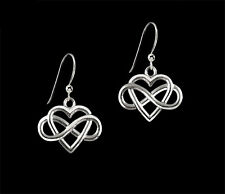 *Ckstella* Infinite Love Eternity Heart Pewter .925 Sterling Silver Earrings