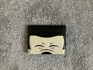 NEW DISNEY MICKEY MOUSE BLACK COACH LEATHER CARD HOLDER / WALLET RRP 220