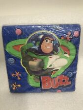 """Vintage Brand New Disney Toy Story 2 """"Buzz Lightyear� Party Napkins Made In Usa"""