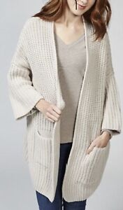 Dressage by Paul Costelloe Wool Blend Chunky Knit Cardigan Beiges Size S RRP £80
