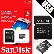 NEW SANDISK 8GB Class 4  MicroSD SD MicroSDHC SDHC TF FLASH MEMORY CARD ADAPTER