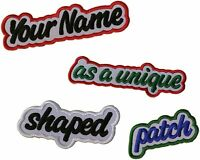 "CUSTOM EMBROIDERED PATCH 3.5"" FREEHAND BORDER + YOUR NAME OR TEXT IRON & SEW ON"