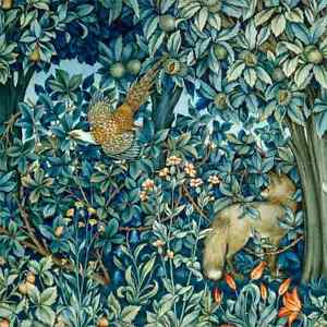 William Morris Ceramic or Porcelain 4 Tile Mural Backsplash Kitchen ref 10