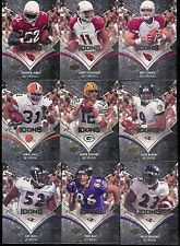 2008 UPPER DECK ICONS FOOTBALL COMPLETE BASE SET 1-100