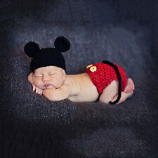 Newborn 0-6Months Baby Boys Mickey Mouse Crochet Knit Costume Outfit Photo Props