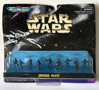 NEW Star Wars Micro Machines 66076 Imperial Pilots 9 Pieces Mini Set 1996