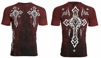 ARCHAIC by AFFLICTION Mens T-Shirt HUNTING SEASON Cross Tattoo Biker MMA $40 b