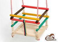 BRAND NEW INDOOR OUTDOOR GARDEN WOODEN ROPE SWING SEAT 4 KIDS BABY CHILDREN!