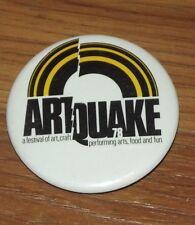 Vintage Artquake 78 Art Festival Pinback Button Portland Oregon