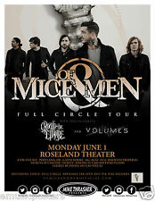 "Of Mice & Men / Crown The Empire ""Full Circle Tour"" 2015 Portland Concert Poster"