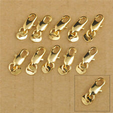 50X 18K Gold Filled Lobster Clasp Connecter Jewelry Necklace Bracelet Findings