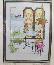 Paragon Crewel Nostalgia Embroidery Kit #0131 Old Fashioned Ice Cream Shop Soda