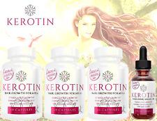 Kerotin 3 Hair Growth Vitamins & 1 Argan Oil KIT - Natural Keratin Prevent Loss