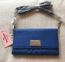 NWT JUICY COUTURE Crossbody Wallet Bag Blue Brt Cobalt Ec Kalida Wos NEW