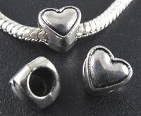3 abalorios corazones plata tibetana para pulsera