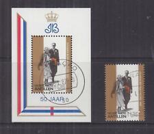 NETHERLANDS ANTILLES, 1987 Golden Wedding 1g.35 & Souvenir Sheet, used.