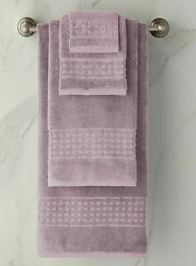 NEW Ralph Lauren 7 PC PIERCE Towel SET Wash Hand Bath Sheet APRIL PURPLE