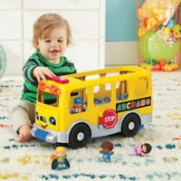 Fisher-Price Little People Big Yellow School Bus Kids Toy - Lights Sound Music