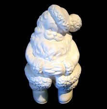 "C-0168 14"" Large Winking Santa Claus Standing Ceramic Bisque Ready to Paint"
