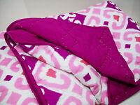 Pottery Barn Teen Multi Colors Pink Purple Gemma Ikat Twin Quilt New