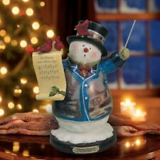 Thomas Kinkade Fig - Let Heaven and Nature Sing Snowman New  Item 1513888012 COA