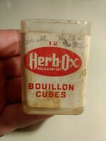 Vintage Plastic HERB OX Bouillon Cube Container 12 Cube Size Box Empty No Lid