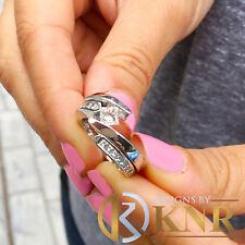 Engagement Ring Tension Bridal 1.50ct 14K White Gold Princess Forever Moissanite