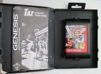Sega Genesis Taz Escape from Mars Complete with Case & Manual *Cleaned & Tested*