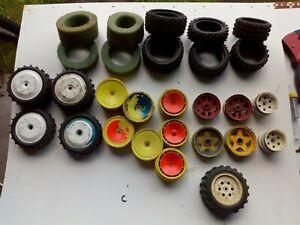 Vintage TAMIYA kyosho Mardave cobra Wheels tyres job lot 1/10