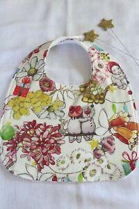 Handmade Christmas bib- Gumnut babies- May Gibbs