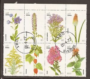 Sweden part flowers sheet. 1977