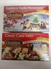 Celestial seasonings Lot Of 2 Holiday Teas 20 Bags In Each Box