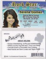Rock Star Selena Gomez Burbank California CA Drivers License FAKE ID card