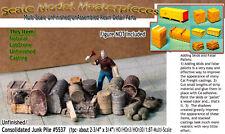 Junk Pile-Fuel Tanks Alley/Scrap Yard Scale Model Masterpieces HO Craftsman Fine