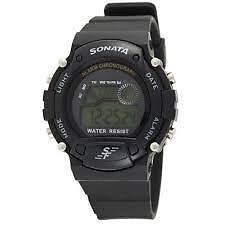 Sonata Digital Grey Dial Men's Watch - NG7982PP03J 7982pp03