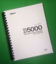 Laser Printed Nikon D5000 Camera 256 Page Owners Manual Guide